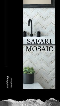 Need some bathroom tile and stone inspiration? Try out the Safari Mosaic. It comes in three gorgeous colors: Bianco Carrara, Carrara Safari and Transparent Glue. Make your bathroom a showstopper with this luxurious tile.