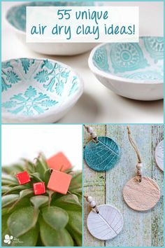 Here are 55 fabulous air dry clay ideas to get inspired by. These detailed tutorials will have you making awesome clay projects in no time. Make jewelry, candles, planters and other types of home decor. These make the perfect handmade gifts! #artsyprettyplants #clayideas #airhardeningclay #homemadegifts #diygifts #giftideas Clay Projects, Clay Crafts, Handmade Christmas Gifts, Christmas Diy, Homemade Gifts, Diy Gifts, Air Dry Clay, Christmas Tree Ornaments, Jewelry Making