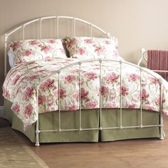 Coventry Iron Bed by Wesley Allen - Rustic Ivory Finish