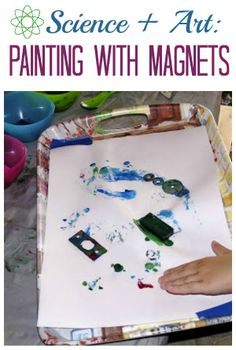 Combine science and art in one fun project when you Paint with Magnets!