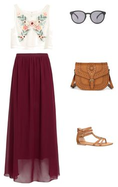 Laid Back Festival Garb by noelle-horan on Polyvore featuring polyvore, fashion, style, H&M, maurices, Sole Society and Quay