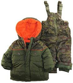 IXtreme Baby Boys Infant Camo Two Piece Snow suit Set, Olive, 24 Months - http://www.specialdaysgift.com/ixtreme-baby-boys-infant-camo-two-piece-snow-suit-set-olive-24-months/