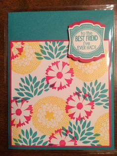 Handmade card using the Petal Parade stamp set from Stampin' Up. Creation by Christina... March 2014