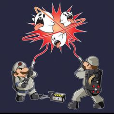 Super Mario and Ghostbusters Mashup via @geekxpectations