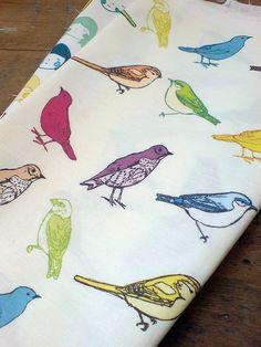 Mooshpie bird fabric