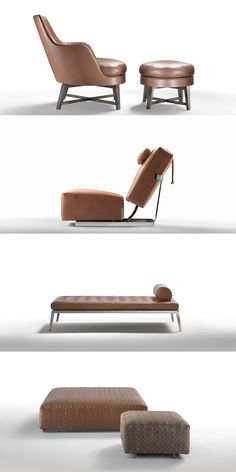 FLEXFORM, about #brown. #Ispiration in white from the Flexform collections