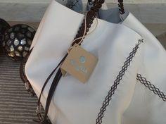 Callista crafts white leather bag