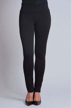 """Liverpool Rizzo Pull-On Skinny Ponte Pant--These are similar to the pants I received in my first Fix (January 2015), but have a slightly longer waistband. LOVE THEM! These are the most comfy pants I have ever owned, especially considering they are called """"skinny pants."""" First pair ever to not make me feel the opposite of a skinny pants woman! #skinnypants #comfortable #clothingstaple"""