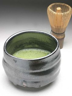 Matcha tea. Remind me that my Japanese teacher had taught the tea ceremony to us in the class.