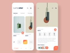Lampster app - App Templates - Ideas of App Templates - Lampster app by Asha Rajput for Mindinventory on Dribbble Ui Design Mobile, Mobile Application Design, App Ui Design, Interface Design, User Interface, Web Layout, Layout Design, Design Design, Website Layout