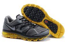 separation shoes acff5 b1449 Nike Air Max 2012 Men Gray Black Yellow Shoes New Nike Air, Cheap Nike Air
