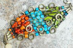 Bracelet | Cuff | Orange | Blue | Chartreuse | Bronze | Exotic | XO Gallery | XO Gallery