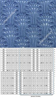 Knitting Patterns Stitches Beautiful patterns with knitting needles. Discussion on LiveInternet – Russia …This post was discovered by Pınar DOĞAN. Discover (and save!) your own Posts on Unirazi. Lace Knitting Stitches, Lace Knitting Patterns, Knitting Charts, Lace Patterns, Loom Knitting, Knitting Designs, Knitting Needles, Baby Knitting, Stitch Patterns