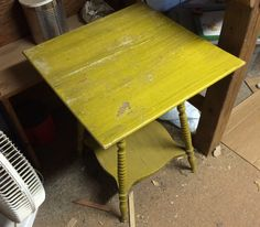 Planning out my projects for 2015.  My plan for this table is to strip all the paint and bring it back to bare wood.