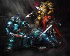 Wardorf and Tyrannus smashin' dem traitors by Inkary on DeviantArt