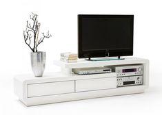Lowboard Celio TV-Board Weiß Hochglanz mit Schubladen Hifi-Möbel 7373
