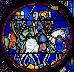 Bay 21 (The Life of St Julien the Hospitaller) Panel 12 - Julien and his troops departing for war