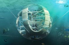 Spherical Underwater 'Fish Tower' Skyscraper Recycles Debris from the Great Pacific Garbage Patch (  honorable mention in eVolo's 2012 skyscraper competition )