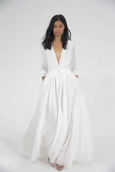 If this Houghton dress is too casual for your wedding ceremony, it will be perfect for the morning after. Available at Houghton Bride Atelier.