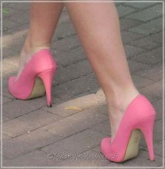 Pink Summer Casual High Heel Shoes.