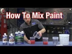 How To Mix Automotive Paint Understanding Paint Mixing Ratios - Automotive Job - Ideas of Automotive Job - How To Mix Automotive Paint Understanding Paint Mixing Ratios Car Painting, Spray Painting, Custom Paint Jobs, Custom Painted Cars, Auto Body Work, Paint Booth, Auto Body Repair, Paint Shop, The Body Shop
