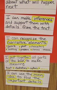 "FACE board-This shows a second set of cards under the ""Comprehension"" column (5th Grade blogger-Teaching My Friends!)"