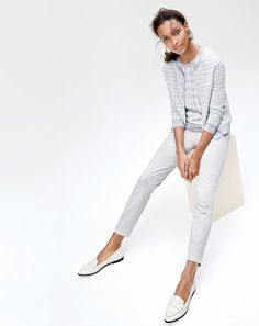 Twinset, tailored pant, loafers, check!