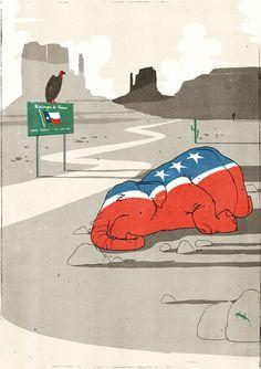 From The New Yorker  Illustration: Alessandro Gottardo aka Shout.