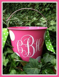 Monogram Easter Baskets, of course!