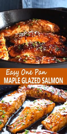 Baked Salmon Recipes, Seafood Recipes, Mexican Food Recipes, Cooking Recipes, Recipe For Grilled Salmon, Pan Cooked Salmon, Salmin Recipes, Fish Recipes Pan, Gourmet