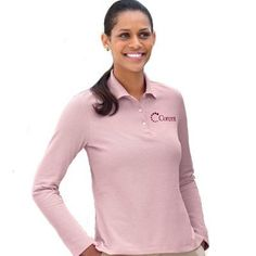 Have your company logo custom embroidered on ladies and men's long sleeve uniform polo shirts. EZ Corporate Clothing carries a great selection of embroidered long sleeve polo work shirts for him and her. Check out our selection of dri-fit stretch tech polo shirts, Egyptian interlock polos, pima pique polos, silk washed pique polos, pique knit long sleeve polo shirts, and long sleeve pocket polo shirts with SpotShield.