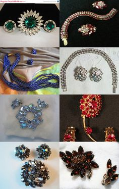 Vintage Jewelry - Demi Parure Sets by Christine Behrens on Etsy--Pinned with TreasuryPin.com