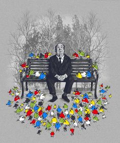 ANGRY BIRDS & HITCHCOCK by illustrators Dan Eijah Fajardo & Pedro Kramer