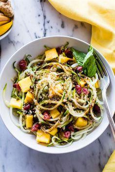 Zesty Mango Spiralized Cucumber Salad {Vegan, Gluten Free}