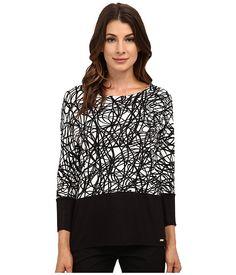 Calvin Klein Calvin Klein  Sleeve Dolman w Zip String Womens Clothing for 42.99 at Im in! #sale #fashion #I'mIn