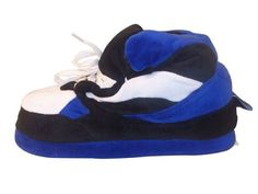Happy Feet - Blue, Black and White - Slippers Happy Feet. $24.99