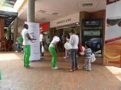 Desarrollo del evento en centro comercial