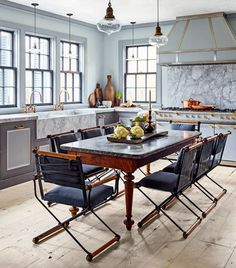 """""""I never use recessed lights in a kitchen—they're one-directional and not easy to work under,"""" Steven Gambrel reveals in our ultimate guide to cooking in style."""