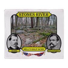 Stones River-Hells Half-Acre Throw Blanket  http://www.cafepress.com/Civil_War_1861_to_1865  http://www.cafepress.com/CivilWar1861to1865Part2  http://www.cafepress.com/USCivilWarColoredApparel