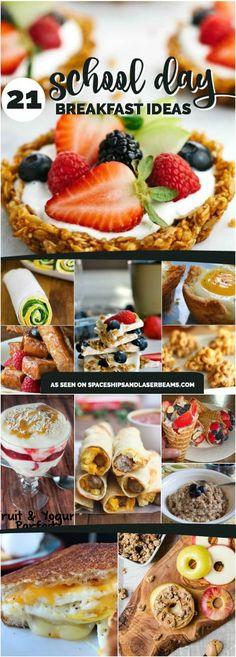 21 School Day Breakfast Ideas via @spaceshipslb
