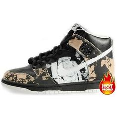finest selection 81fbc 341bc Mens Nike Dunk High SB (Unkle Edition) (Black  White)