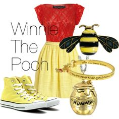 """Winnie The Pooh Disneybound"" by ellalea on Polyvore"