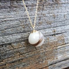 Gold breast milk and lock of hair pearl necklace - breastmilk jewelry