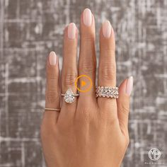 Mark broumand on have something unique in mind this incredible pear and stacked rose gold oval eternity bands will do the trick ; 4 i pear 56 classy skin color nail art designs Vernis Rose Pale, Pink Oval Nails, Pink Manicure, Pear Cut Engagement Rings, Engagement Nails, Engagement Pictures, Bride Nails, Clean Nails, Nail Treatment