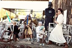 a whole family of star wars costumes