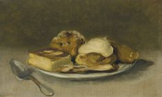 Eva Gonzalès Dessert stamped with signature 'Eva Gonzalès' (Lugt upper right) oil on canvas 8 x 13 ½ in. x cm. Famous Art Paintings, Your Paintings, Manet, Mid Century Art, 19th Century, Oil Painting Reproductions, Impressionism Art, Museum Of Fine Arts, Pictures To Paint