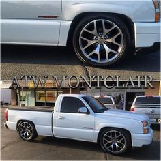 Image result for lowered silverado on 22s