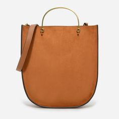 CHARLES & KEITH - Bags. Cognac large tote bag featuring metal handles, a rounded base and magnetic closure.