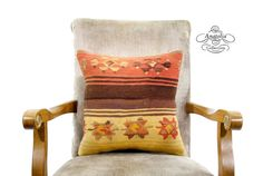 Nomad ART Turkish Tribal Kilim Pillow Accent by AnatoliaCollection