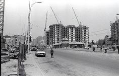 Piata 1 Mai si blocul 40 in constructie - Bulevardul Ion Mihalache © Dan Vartanian 1. Mai, New York Skyline, Architecture, Travel, Arquitetura, Viajes, Destinations, Traveling, Trips